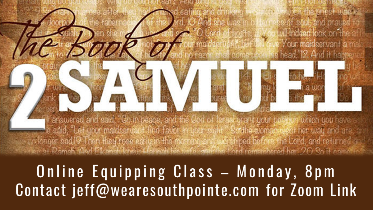 Equipping Class - Online via Zoom